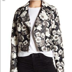 9b9741d83466 Sam Edelman VeganFaux Leather Floral Moto Jacket